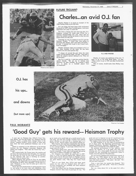 Daily Trojan, Vol. 60, No. 48, November 27, 1968