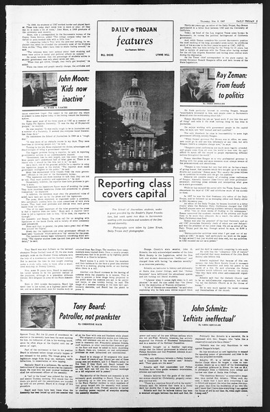 Daily Trojan, Vol. 59, No. 37, November 09, 1967