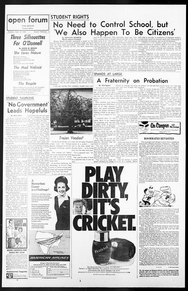 Daily Trojan, Vol. 57, No. 104, April 19, 1966