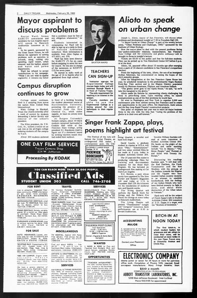 Daily Trojan, Vol. 60, No. 78, February 26, 1969