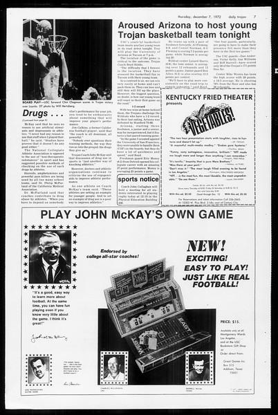 Daily Trojan, Vol. 65, No. 52, December 07, 1972