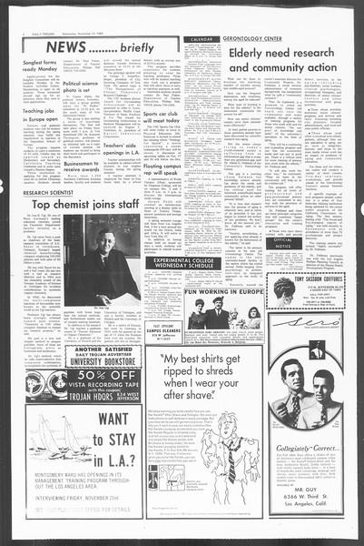 Daily Trojan, Vol. 60, No. 38, November 13, 1968