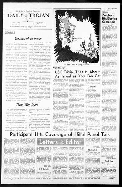 Daily Trojan, Vol. 57, No. 108, April 25, 1966
