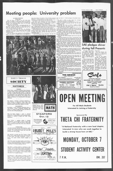 Daily Trojan, Vol. 60, No. 13, October 03, 1968