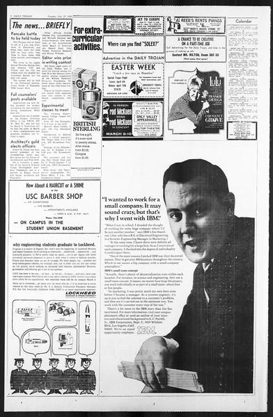 Daily Trojan, Vol. 59, No. 79, February 27, 1968