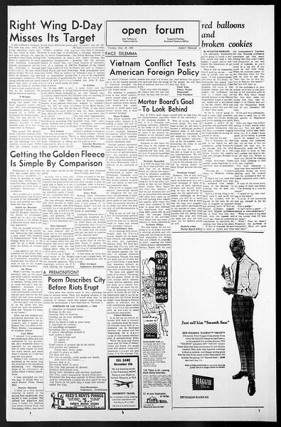 Daily Trojan, Vol. 57, No. 7, September 28, 1965