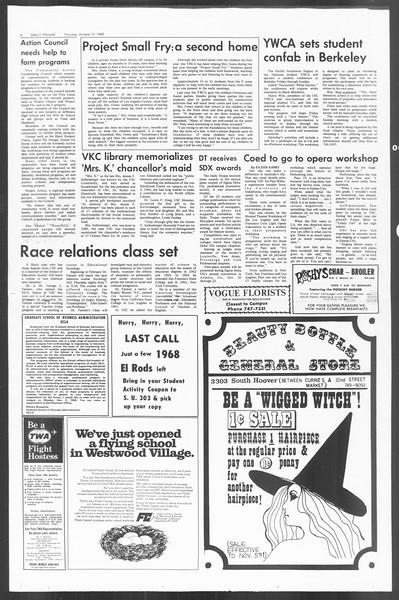 Daily Trojan, Vol. 60, No. 30, October 31, 1968