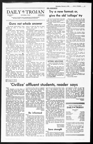 Daily Trojan, Vol. 60, No. 64, February 05, 1969