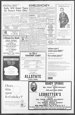 Daily Trojan, Vol. 56, No. 20, October 16, 1964
