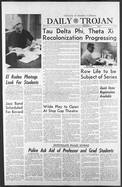 Daily Trojan, Vol. 58, No. 83, March 06, 1967