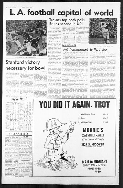 Daily Trojan, Vol. 59, No. 12, October 03, 1967