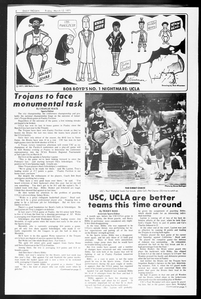 Daily Trojan, Vol. 62, No. 87, March 12, 1971