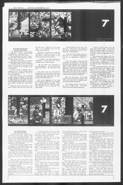 Daily Trojan, Vol. 64, No. 43, November 22, 1971
