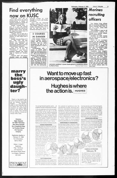 Daily Trojan, Vol. 60, No. 64, February 05, 1969