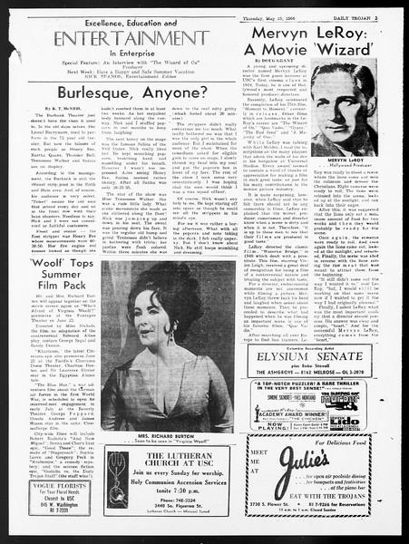 Daily Trojan, Vol. 57, No. 123, May 19, 1966