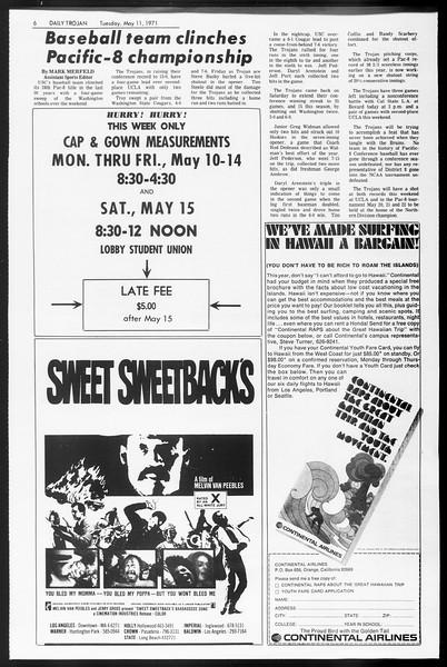 Daily Trojan, Vol. 62, No. 120, May 11, 1971