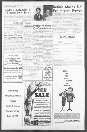 Daily Trojan, Vol. 56, No. 5, September 25, 1964