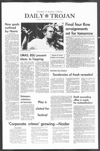 Daily Trojan, Vol. 60, No. 24, October 22, 1968