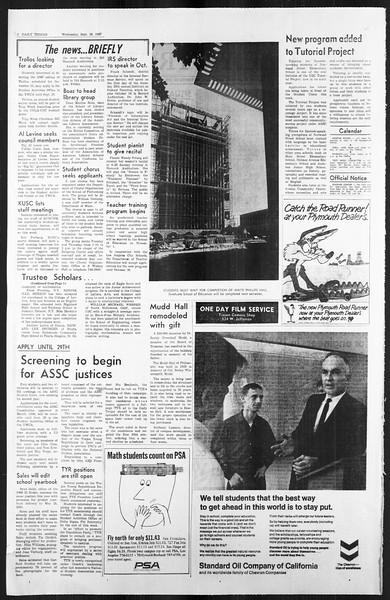 Daily Trojan, Vol. 59, No. 3, September 20, 1967