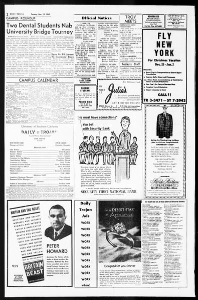 Daily Trojan, Vol. 55, No. 41, November 19, 1963