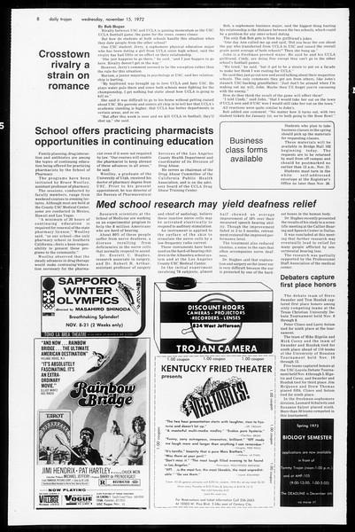 Daily Trojan, Vol. 65, No. 40, November 15, 1972