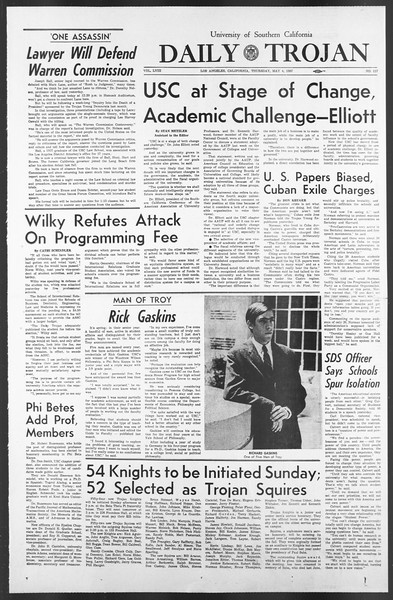 Daily Trojan, Vol. 58, No. 117, May 04, 1967