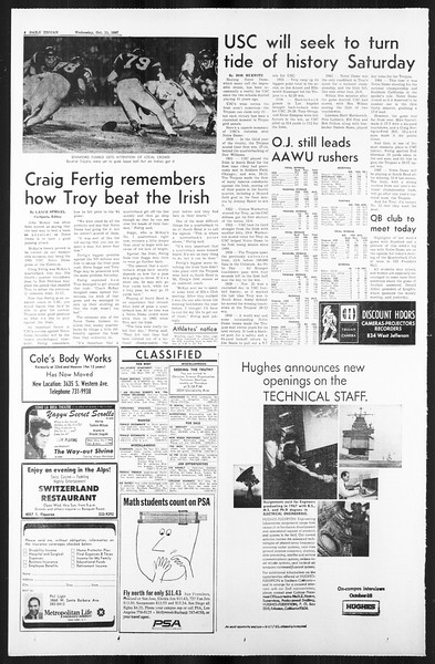 Daily Trojan, Vol. 59, No. 18, October 11, 1967