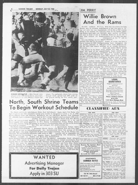 Summer Trojan, Vol. 14, No. 8, July 20, 1964