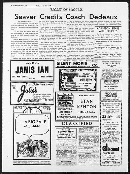 Summer Trojan, Vol. 18, No. 7, July 14, 1967