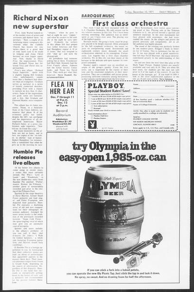 Daily Trojan, Vol. 64, No. 52, December 10, 1971