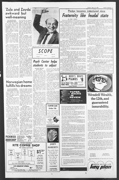 Daily Trojan, Vol. 58, No. 6, September 26, 1966
