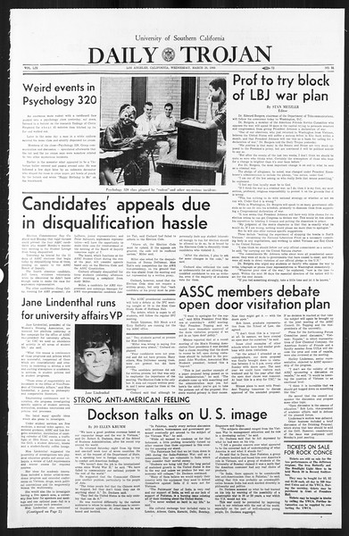 Daily Trojan, Vol. 59, No. 94, March 20, 1968