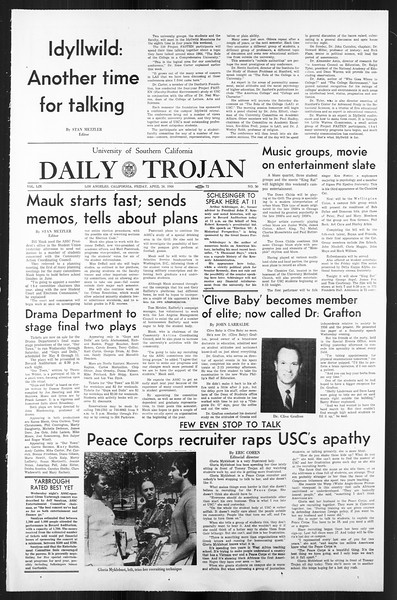 Daily Trojan, Vol. 59, No. 113, April 26, 1968