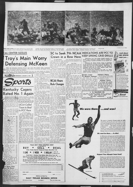 Daily Trojan, Vol. 46, No. 67, January 05, 1955