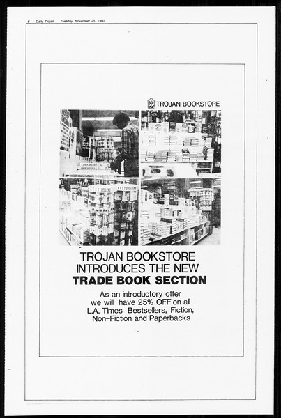Daily Trojan, Vol. 89, No. 48, November 25, 1980