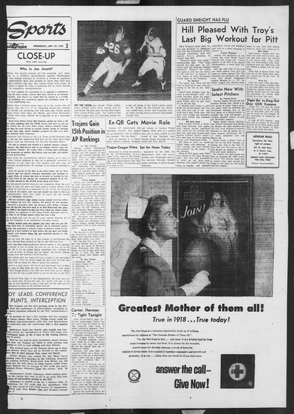 Daily Trojan, Vol. 46, No. 4, September 22, 1954