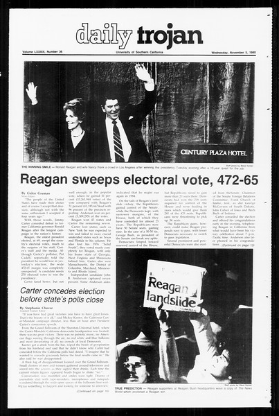 Daily Trojan, Vol. 89, No. 36, November 05, 1980
