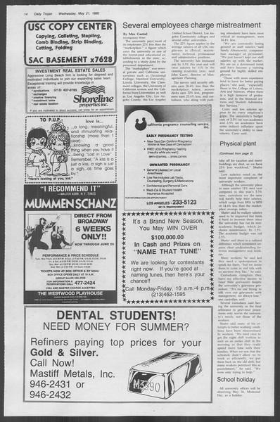 Daily Trojan, Vol. 88, No. 70, May 21, 1980