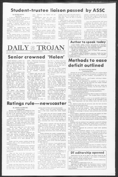 Daily Trojan, Vol. 64, No. 42, November 19, 1971