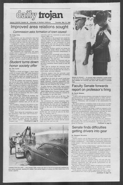 Daily Trojan, Vol. 88, No. 66, May 15, 1980