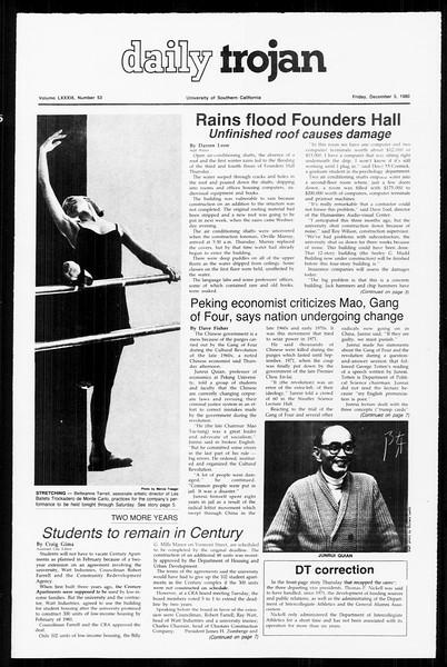 Daily Trojan, Vol. 89, No. 53, December 05, 1980