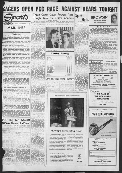Daily Trojan, Vol. 46, No. 69, January 07, 1955