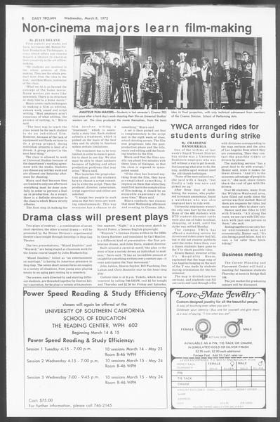 Daily Trojan, Vol. 64, No. 84, March 08, 1972
