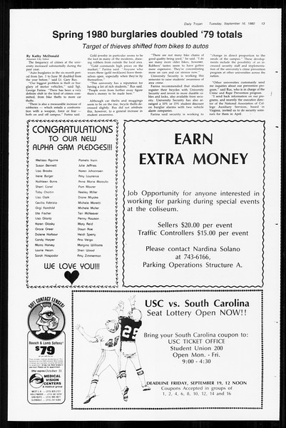 Daily Trojan, Vol. 89, No. 2, September 16, 1980