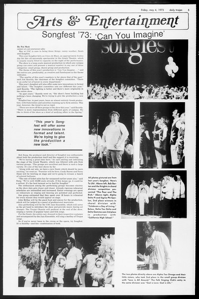 Daily Trojan, Vol. 65, No. 120, May 04, 1973