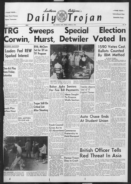 Daily Trojan, Vol. 46, No. 90, March 04, 1955