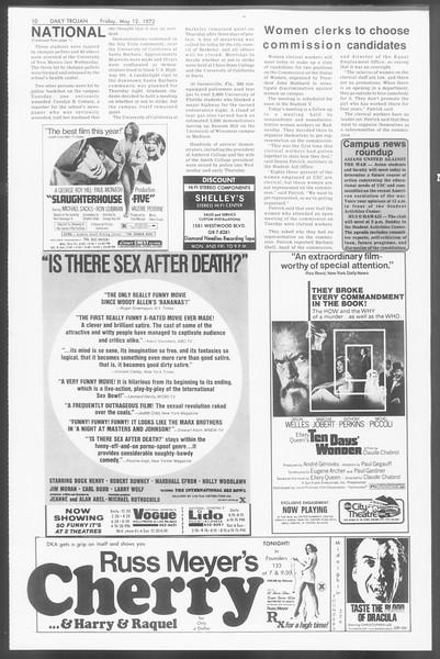 Daily Trojan, Vol. 64, No. 122, May 12, 1972