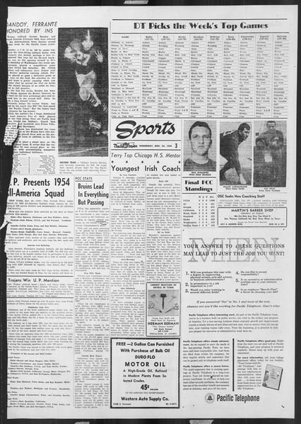 Daily Trojan, Vol. 46, No. 49, November 24, 1954