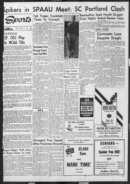 Daily Trojan, Vol. 46, No. 95, March 11, 1955
