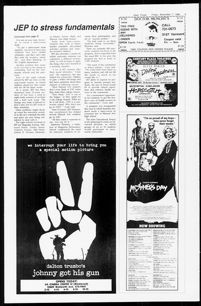 Daily Trojan, Vol. 89, No. 38, November 07, 1980